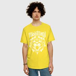 Футболка оверсайз мужская Miss May I: Angry Lion цвета желтый — фото 2