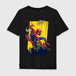 Футболка оверсайз мужская Comics Spider-Man цвета черный — фото 1