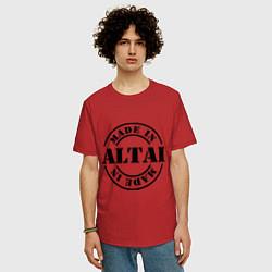 Футболка оверсайз мужская Made in Altai цвета красный — фото 2