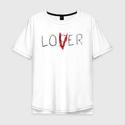 Футболка оверсайз мужская Lover цвета белый — фото 1