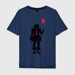 Футболка оверсайз мужская Pennywise цвета тёмно-синий — фото 1