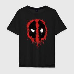 Мужская футболка оверсайз Deadpool logo