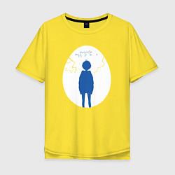 Мужская футболка оверсайз Приоритет чудо-яйца