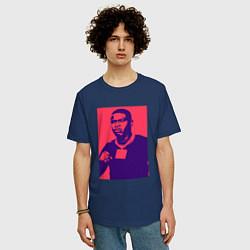 Футболка оверсайз мужская Rapper DaBaby цвета тёмно-синий — фото 2