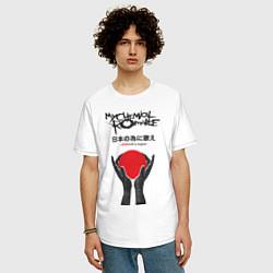Футболка оверсайз мужская My Chemical Romance: Japan цвета белый — фото 2