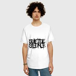 Футболка оверсайз мужская Suicide Silence цвета белый — фото 2