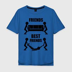 Футболка оверсайз мужская Best friends цвета синий — фото 1