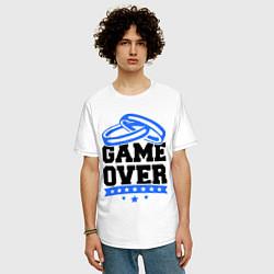 Футболка оверсайз мужская Game over Свадьба цвета белый — фото 2