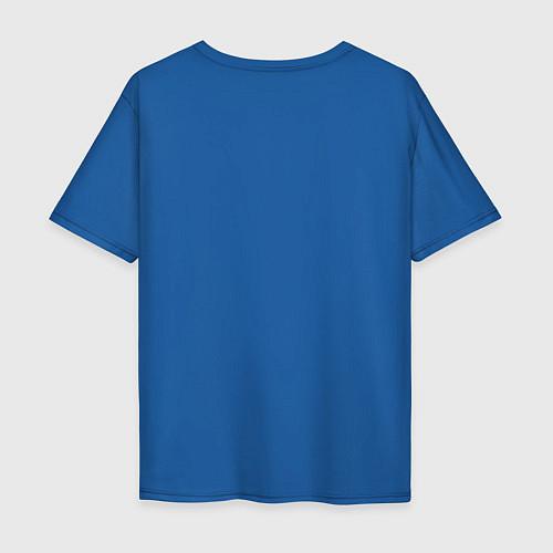 Мужская футболка оверсайз Mathematica (Математика) / Синий – фото 2