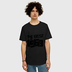 Футболка оверсайз мужская The best of 1969 цвета черный — фото 2