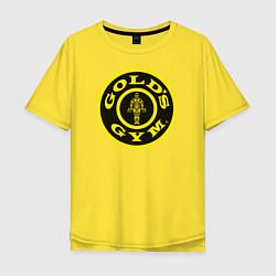 Футболка оверсайз мужская Gold's Gym цвета желтый — фото 1