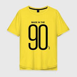 Футболка оверсайз мужская Made in 90 цвета желтый — фото 1
