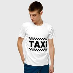 Футболка хлопковая мужская Taxi цвета белый — фото 2