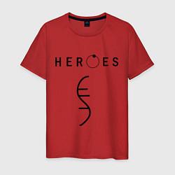 Футболка хлопковая мужская Heroes Symbol цвета красный — фото 1