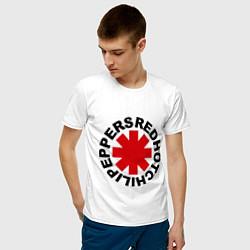 Футболка хлопковая мужская Red Hot Chili Peppers цвета белый — фото 2