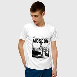 Футболка хлопковая мужская Moscow Kremlin 1147 цвета белый — фото 2