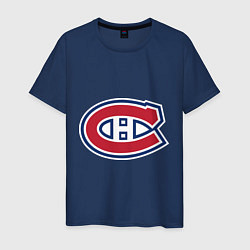 Футболка хлопковая мужская Montreal Canadiens цвета тёмно-синий — фото 1