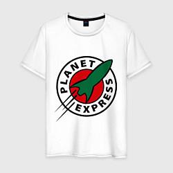 Футболка хлопковая мужская Planet Express цвета белый — фото 1