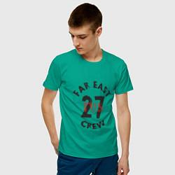 Футболка хлопковая мужская Far East 27 Crew цвета зеленый — фото 2
