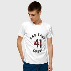 Футболка хлопковая мужская Far East 41 Crew цвета белый — фото 2