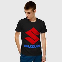 Футболка хлопковая мужская Suzuki цвета черный — фото 2