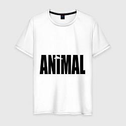 Футболка хлопковая мужская Animal цвета белый — фото 1