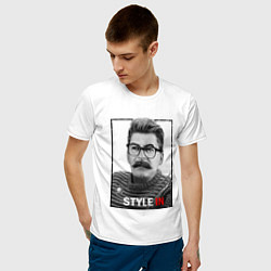Футболка хлопковая мужская Stalin: Style in цвета белый — фото 2