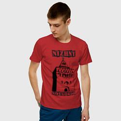 Мужская хлопковая футболка с принтом Нижний Новгород, цвет: красный, артикул: 10128861200001 — фото 2