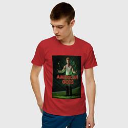Футболка хлопковая мужская American Gods: Mad Sweeney цвета красный — фото 2