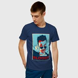 Футболка хлопковая мужская Bloody Poster цвета тёмно-синий — фото 2