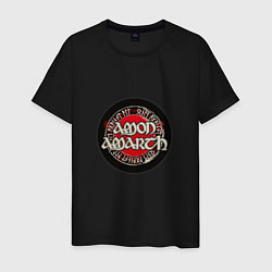 Футболка хлопковая мужская Amon Amarth: Rune цвета черный — фото 1
