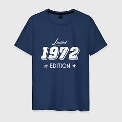 Футболка хлопковая мужская Limited Edition 1972 цвета тёмно-синий — фото 1