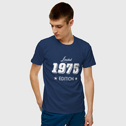 Футболка хлопковая мужская Limited Edition 1975 цвета тёмно-синий — фото 2