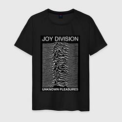 Футболка хлопковая мужская Joy Division: Unknown Pleasures цвета черный — фото 1