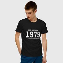 Футболка хлопковая мужская Год выпуска 1979 цвета черный — фото 2