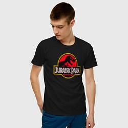 Футболка хлопковая мужская Jurassic Park цвета черный — фото 2