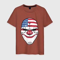 Футболка хлопковая мужская American Mask цвета кирпичный — фото 1