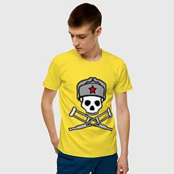 Футболка хлопковая мужская Jackass (Чудаки) СССР цвета желтый — фото 2