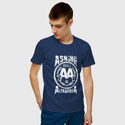 Футболка хлопковая мужская Asking Alexandria XXVIII цвета тёмно-синий — фото 2