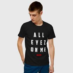 Мужская хлопковая футболка с принтом Tupac: All eyez on me, цвет: черный, артикул: 10145718300001 — фото 2