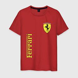 Футболка хлопковая мужская Ferrari Sport цвета красный — фото 1