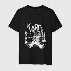 Футболка хлопковая мужская Korn цвета черный — фото 1