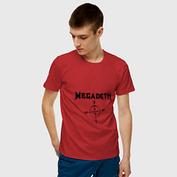 Футболка хлопковая мужская Megadeth Compass цвета красный — фото 2