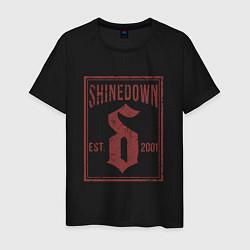 Футболка хлопковая мужская Shinedown est 2001 цвета черный — фото 1