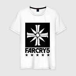 Футболка хлопковая мужская Eden's Gate: Far Cry 5 цвета белый — фото 1