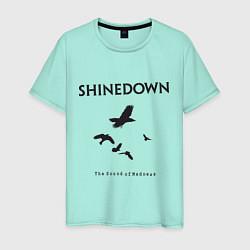 Футболка хлопковая мужская Shinedown: Sound of Madness цвета мятный — фото 1
