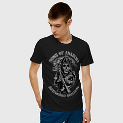 Футболка хлопковая мужская Sons of Anarchy: Redwood Original цвета черный — фото 2