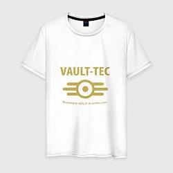 Футболка хлопковая мужская Vault Tec цвета белый — фото 1