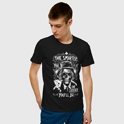 Футболка хлопковая мужская The Smarter & The Lucker цвета черный — фото 2