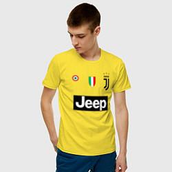 Футболка хлопковая мужская FC Juventus цвета желтый — фото 2
